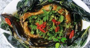 canh cá lóc trái nhau, trái nhàu nấu thức ăn, lá nhàu